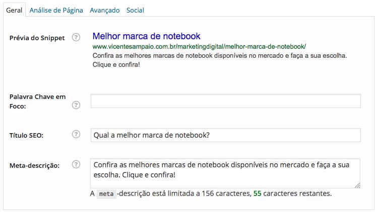 exemplo rankear conteudo google