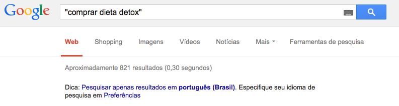 resultados palavras chave google