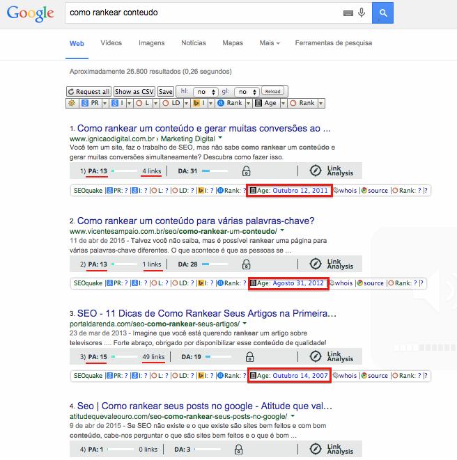 top 10 google marcados