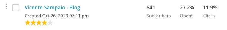 minha lista de emails