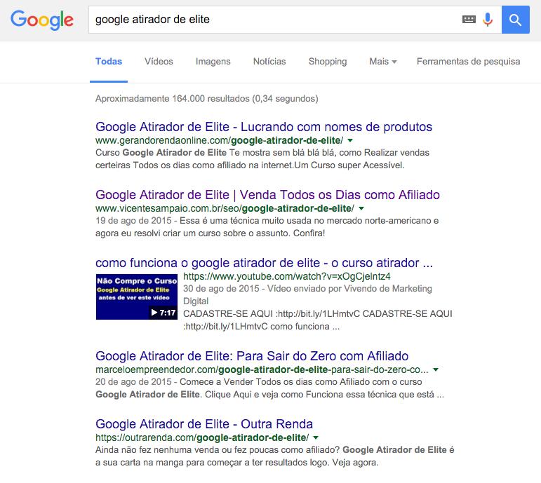 google atirador de elite palavra nova